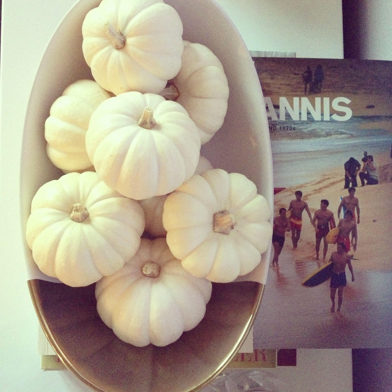 White pumpkins decor. WhatWouldGwynethDo