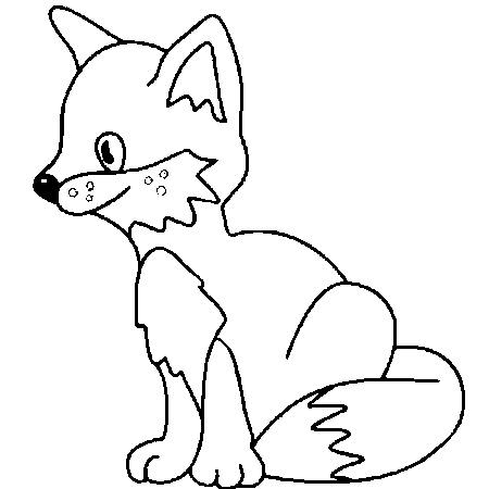 dessin bebe renard a colorier cocina ligera pinterest dessin