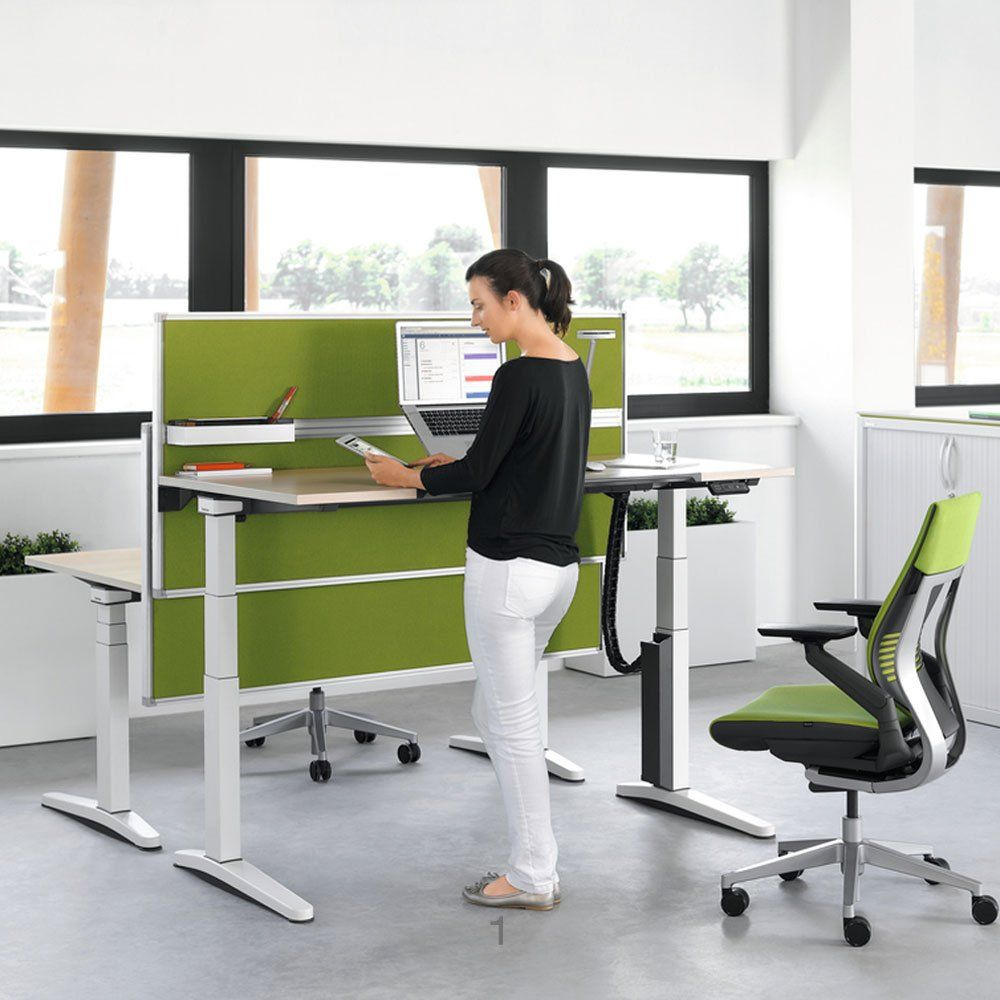 Sit Or Stand When Working At Your Office Desk Well Now The Choice Is Yours With This Amazing New Ology Height Adjule Available From Hunts