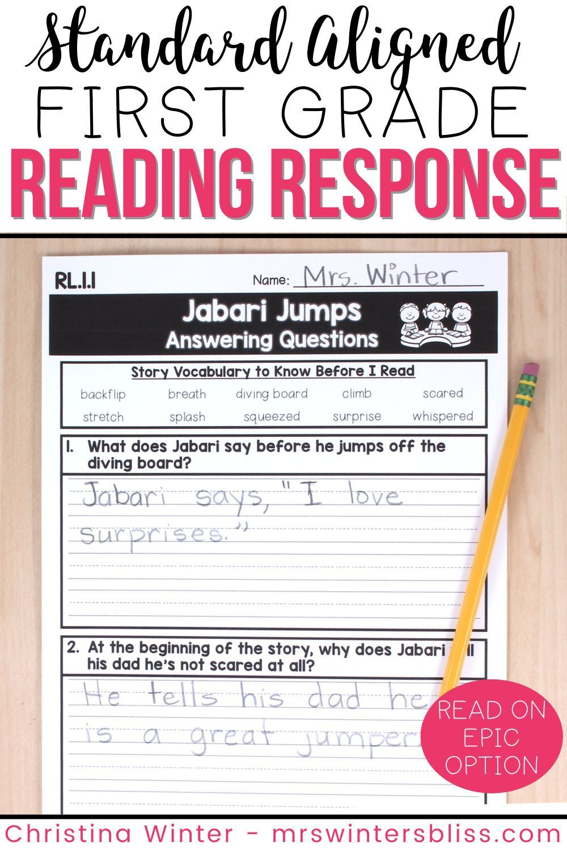 1st Grade Reading Response Activities Printable Digital In 2021 Reading Response Activities Teaching Reading Comprehension Reading Response Journals [ 1500 x 1000 Pixel ]