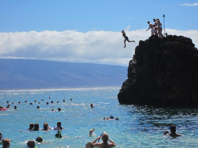 Tripbucket Cliff Jump Off Black Rock Maui Hawaii