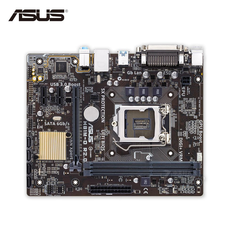 Original New Asus H81m D R2 0 Desktop Motherboard H81 Socket Lga