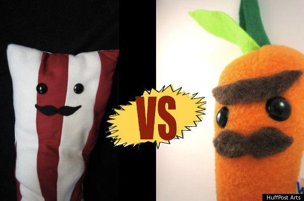 ETSY DEATHMATCH: Carnivores vs. Vegetarians.  May the cutest ones win...