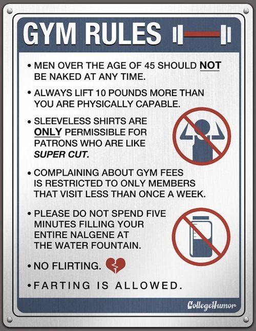 gym flirting signs