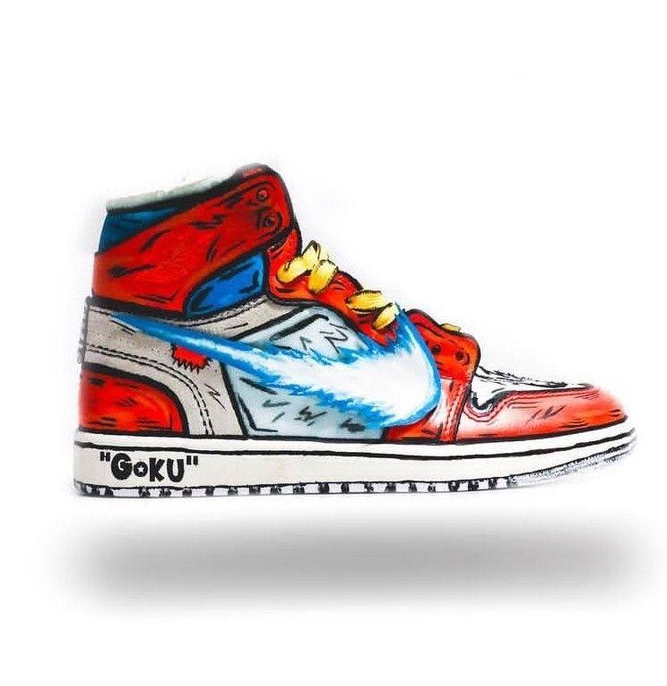 Kamehameha 2 Custom Jordan 1'sjordans Nike Painted Bitch Pt WEIH29YD
