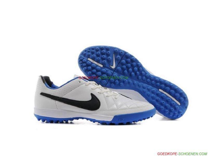 size 40 46718 29e4f Groothandel Nike Tiempo Legend V TF – WitBlauwZwart