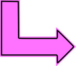 L Shaped Arrow Pink Filled Right Symbols L Shape Shapes