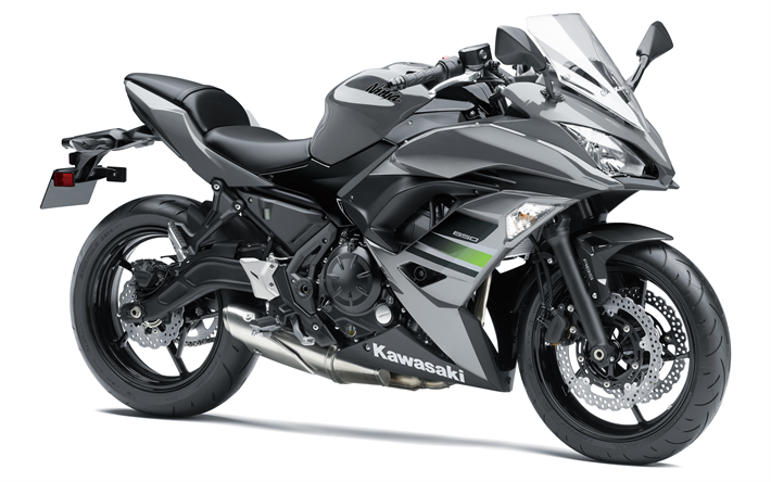 Download wallpapers Kawasaki Ninja 650, ABS, 2018, sport