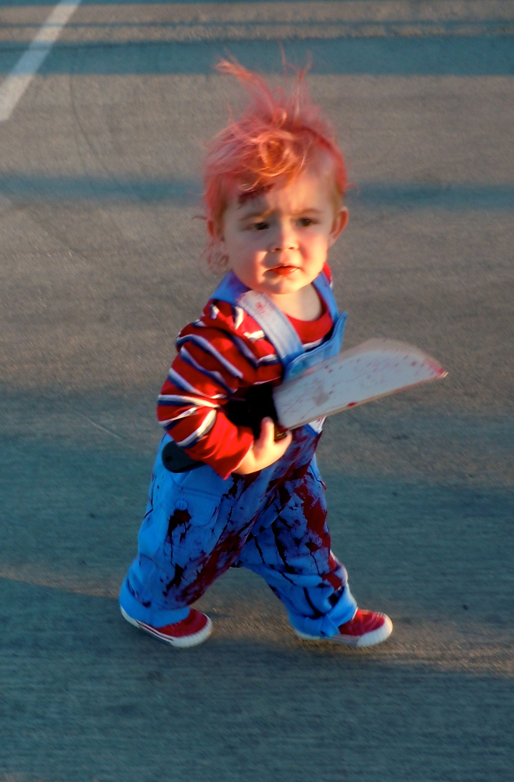 Scary little chucky kids halloween costume kids for 9 year old boy halloween costume ideas