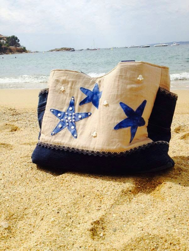 Aquí os dejo fotos de algunas bolsas de playa terminadas, son de las alumnas de los diferentes monográficos, espero que me mandéis mas!!   ...