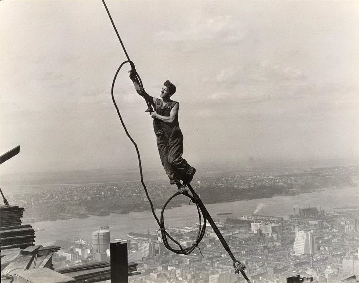 Lewis Wickes Hine, a construction worker at the Empire State ...