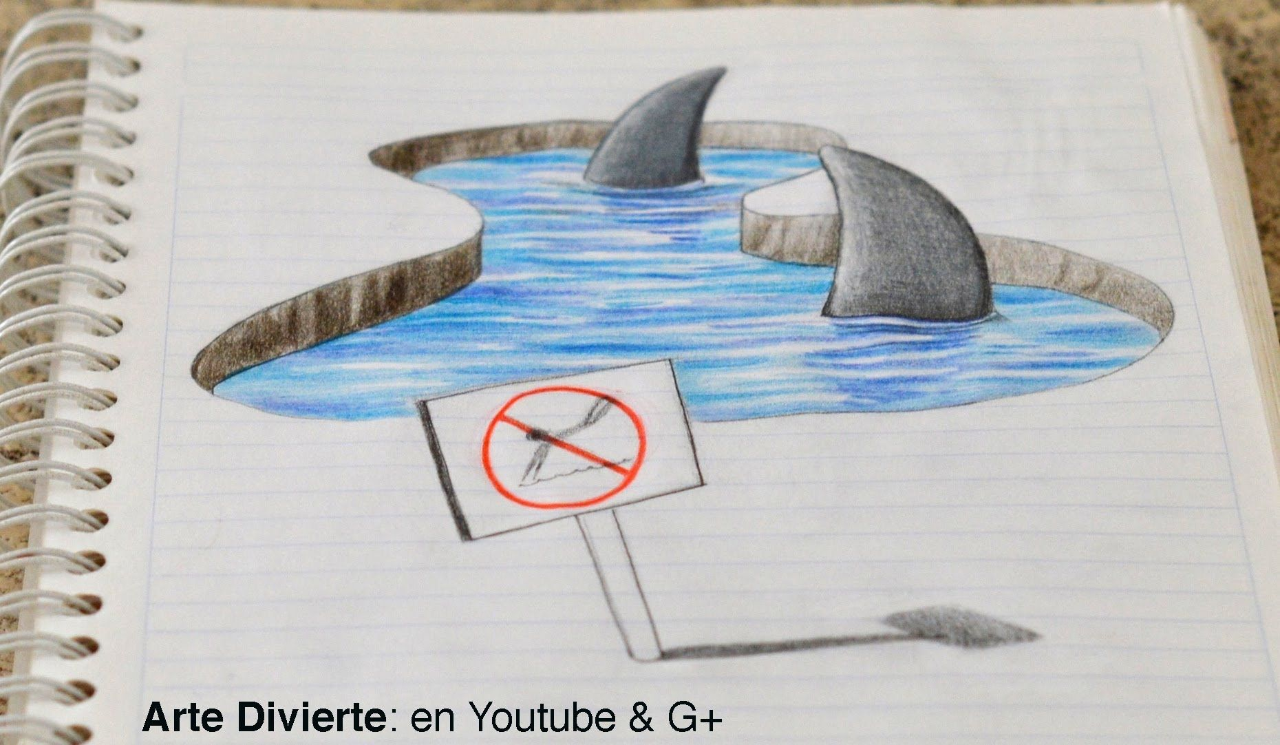 Dibujo Anamorfico Dibujando Tiburones 3d En Mi Cuaderno Arte Divierte Arte Divertido Dibujos Dibujos 3d A Lapiz