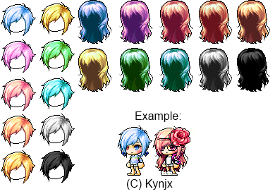 Maplestory Mixed Hair Giveaway Anime Pixel Art Mixed Hair Pixel Art