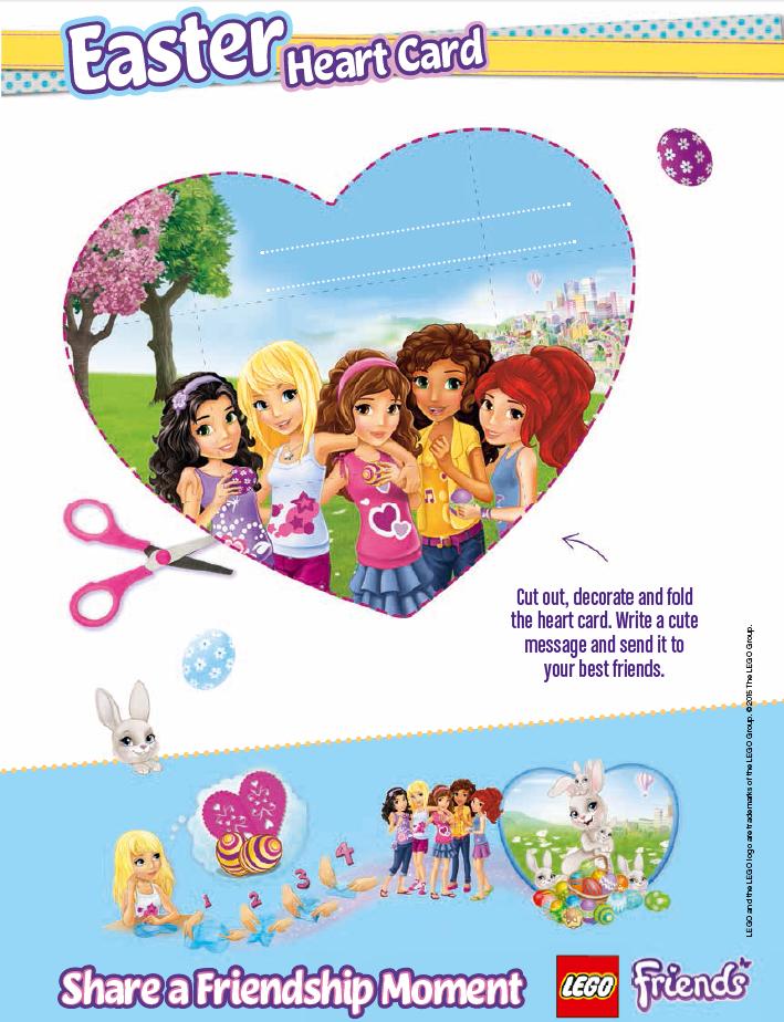 Http Www Lego Com En Us Friends Activities Downloads Easter Heart Card Lego Friends Birthday Lego Friends Party Lego Friends Birthday Party