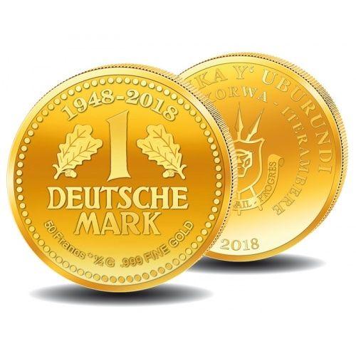 70 Jahre Deutsche Mark, Kleine Goldmünze, Burundi