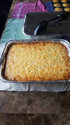 This recipe was given to me by a coworker Becky.  So first of all I want to thank her. It is a special Mac and Cheese that she gave to everyone in our department and I have never tasted anything like this before.