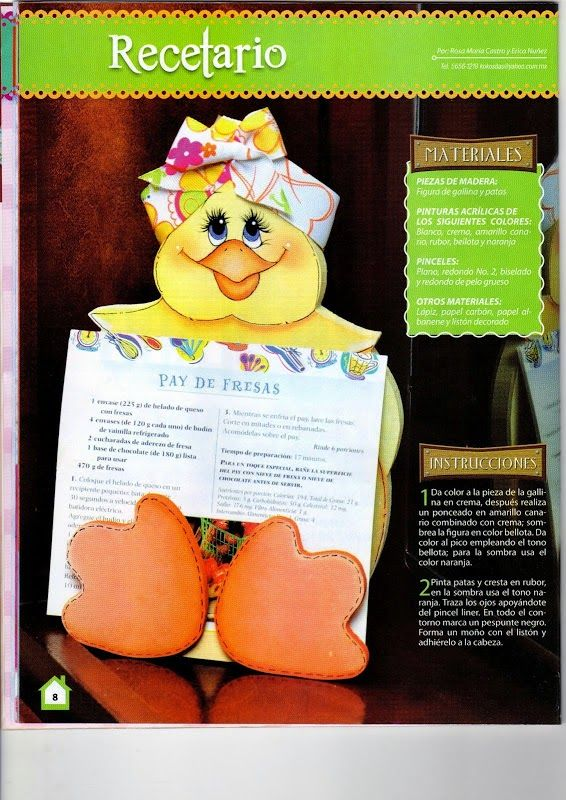 Revistas de manualidades gratis: Manualidades para la cocina country