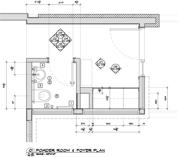Kitchen Remodel Half Bath Sunroom Addition And Laundry: Small Powder Room Floor Plans