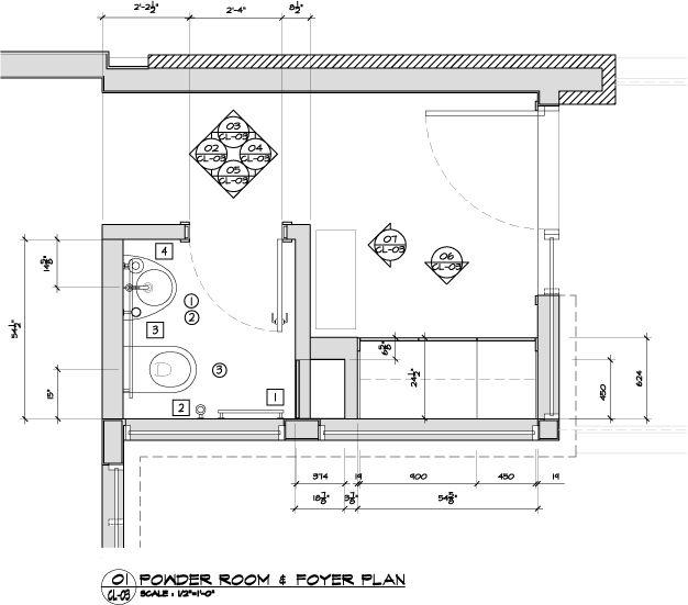 Kitchen Remodel Half Bath Sunroom Addition And Laundry: Small Powder Room Floor Plans