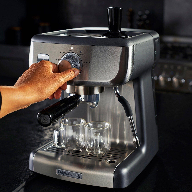 Calphalon Temp Iq Espresso Machine With Steam Wand Espresso Machine Best Espresso Machine Espresso At Home Espresso machine with steam wand