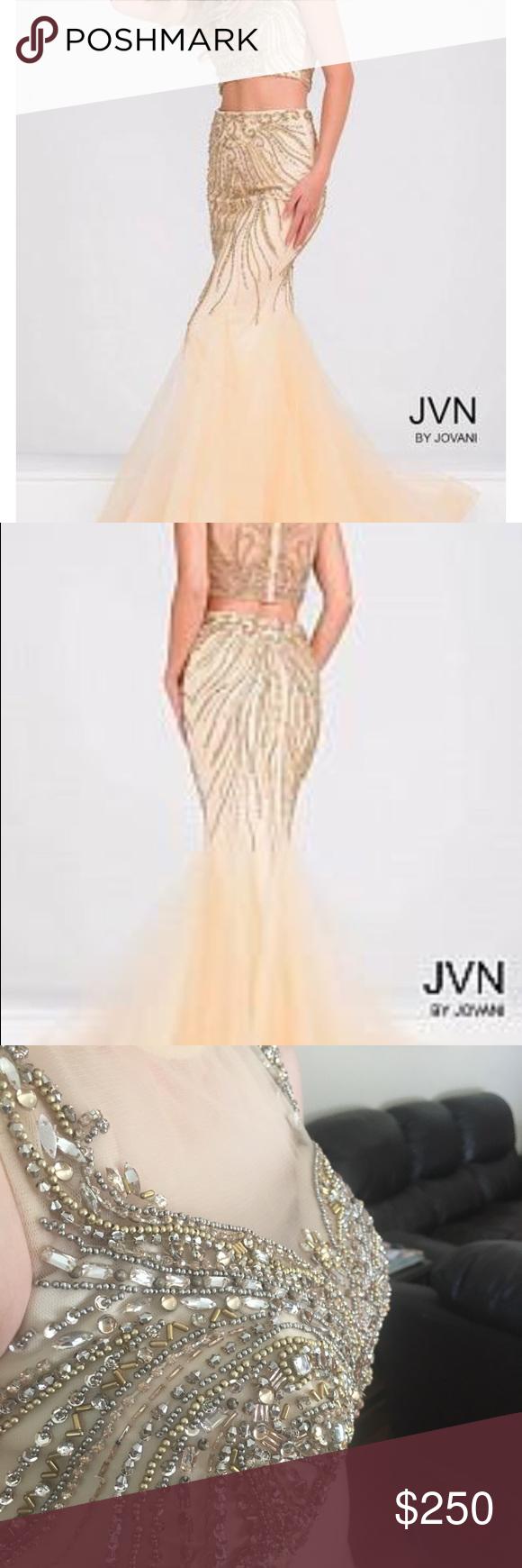 Jvn by jovani nudegold prom dress sadly re poshing daughter didnut