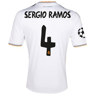 5d031f97a89 Real Madrid UEFA Champions League Home Shirt 2013 14 with Sergio Ramos  Real  Madrid Home Shirt…  RealMadridShop  RealMadridStore