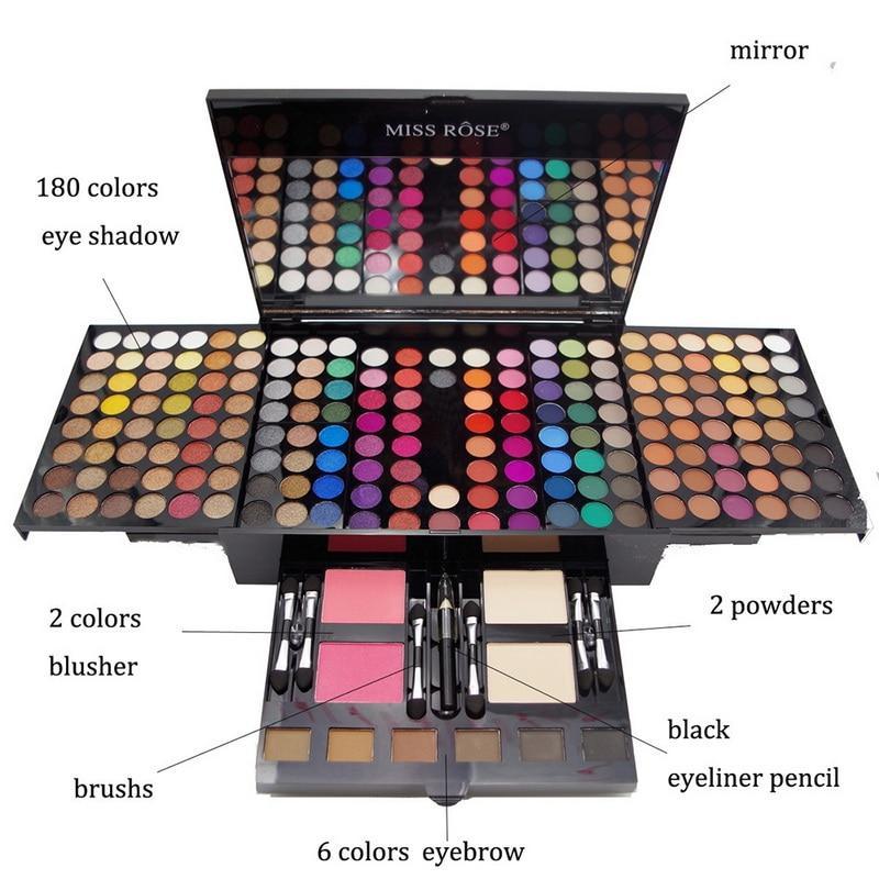 Professional 180 Colors Makeup Box Eyeshadow Palette