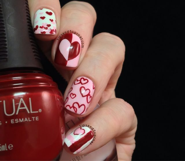 Tips and Topcoat: Valentines Nail Art feat @SpaRitualist #nails ...