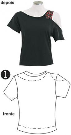 Как из футболки сделать дизайнерскую маечку.
