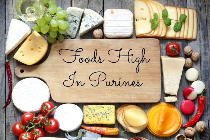List of 19 foods high in purines for gout sufferers to