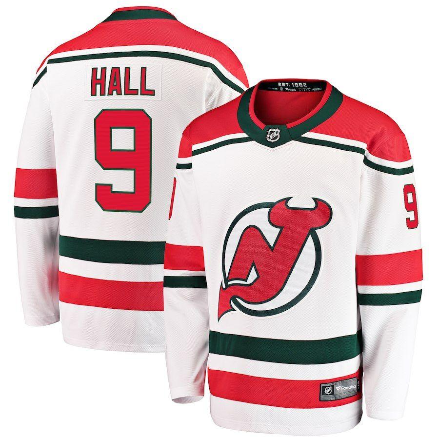 Men s New Jersey Devils Taylor Hall Fanatics Branded White Alternate  Breakaway Player Jersey 7348c751a