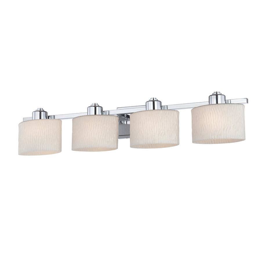 Vanity Lights Lowes Endearing Allen  Roth 4Light Grayson Polished Chrome Bathroom Vanity Light Inspiration Design
