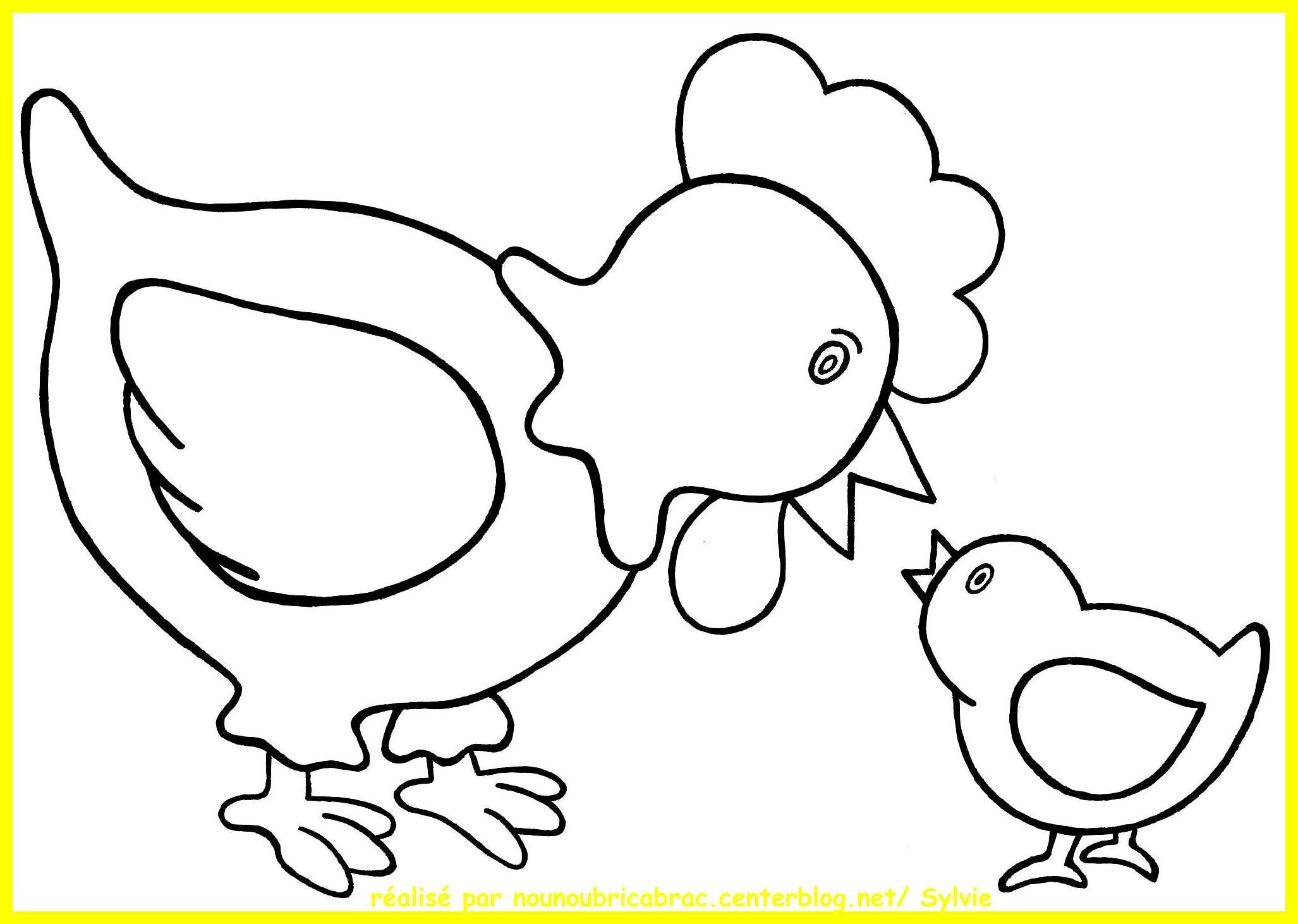 Coloriage Poule à colorier   Dessin à imprimer   Coloring pages ...