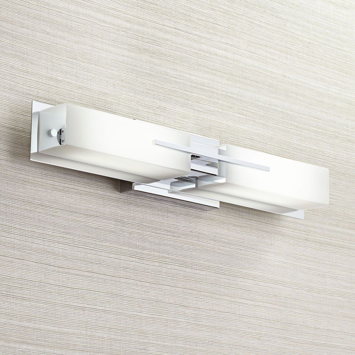 Best Midtown Contemporary Chrome Led Possini Euro Bath Light 400 x 300