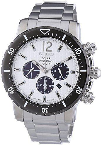 Sale Preis: Seiko Herren-Armbanduhr Solar Chronograph Edelstahl ...