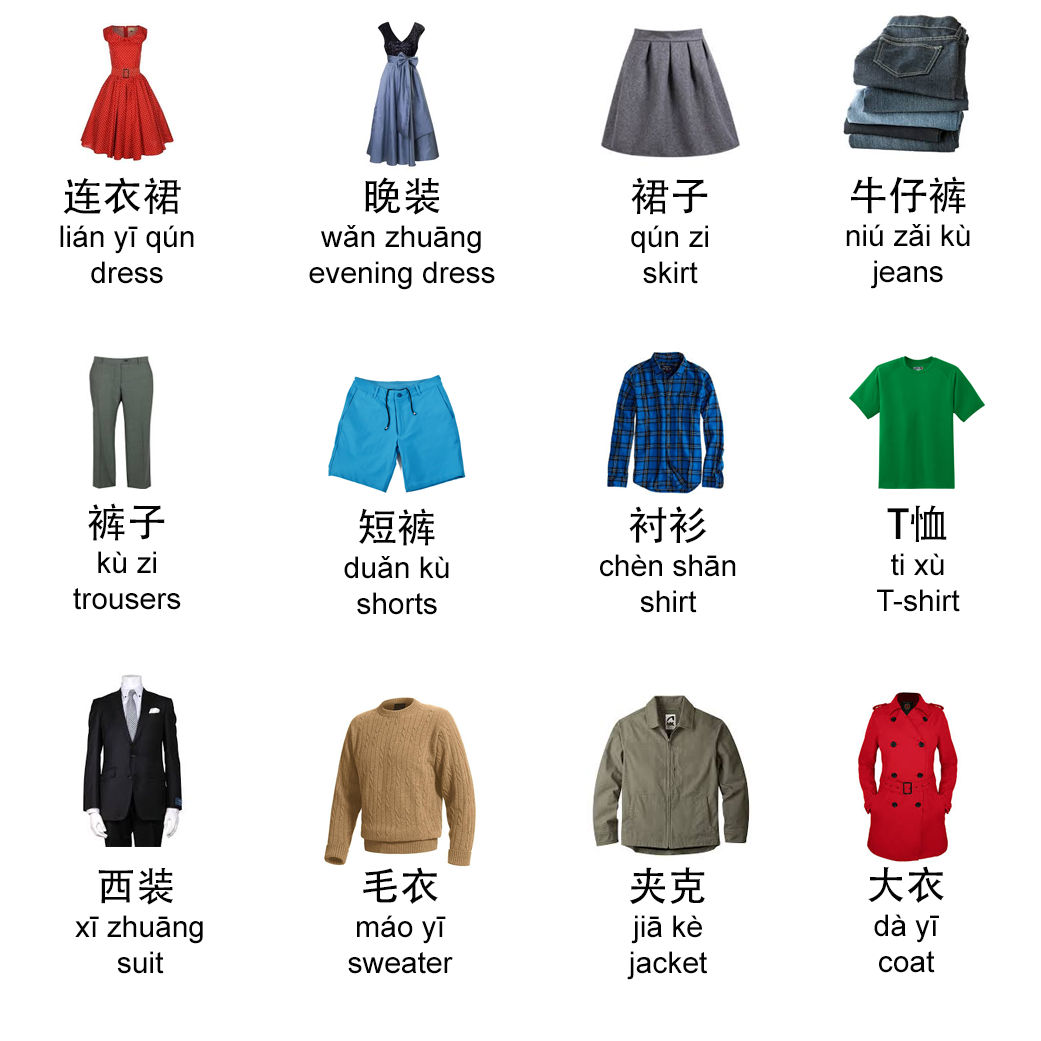 Chinese Clothes Vocabulary
