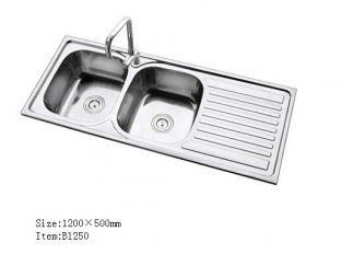 kitchen sinks with drainboard built in stainless steel wall panels for commercial love the double sink design ideas redo