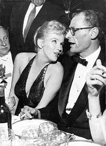 Marilyn Monroe and Arthur Miller by Retro Images Archive