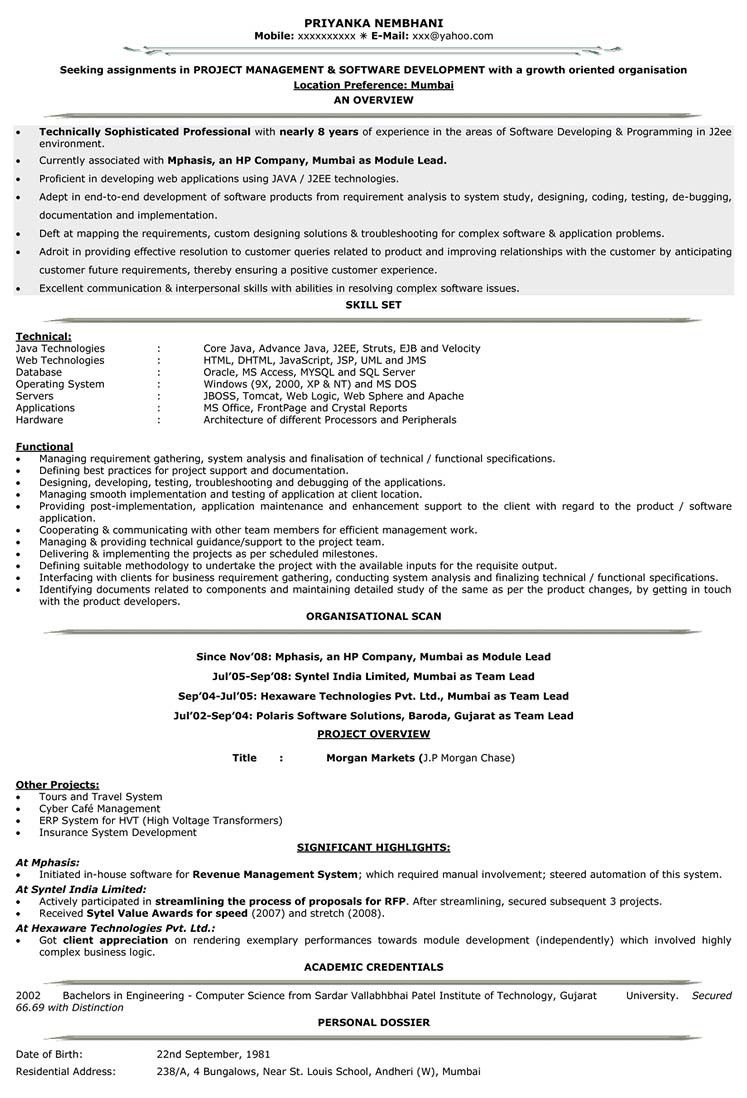 Entry Level Web Developer Resume Simple Resume Format Gujarat  Pinterest  Resume Format