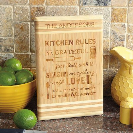 Kitchen Rules Cutting Board #kitchenrules