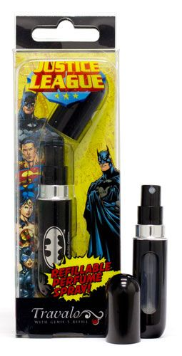 The #Batman Travalo mini perfume refillable atomiser is now available in UK and Singapore. Just £9.99 for a brilliant #present at www.travalo.com