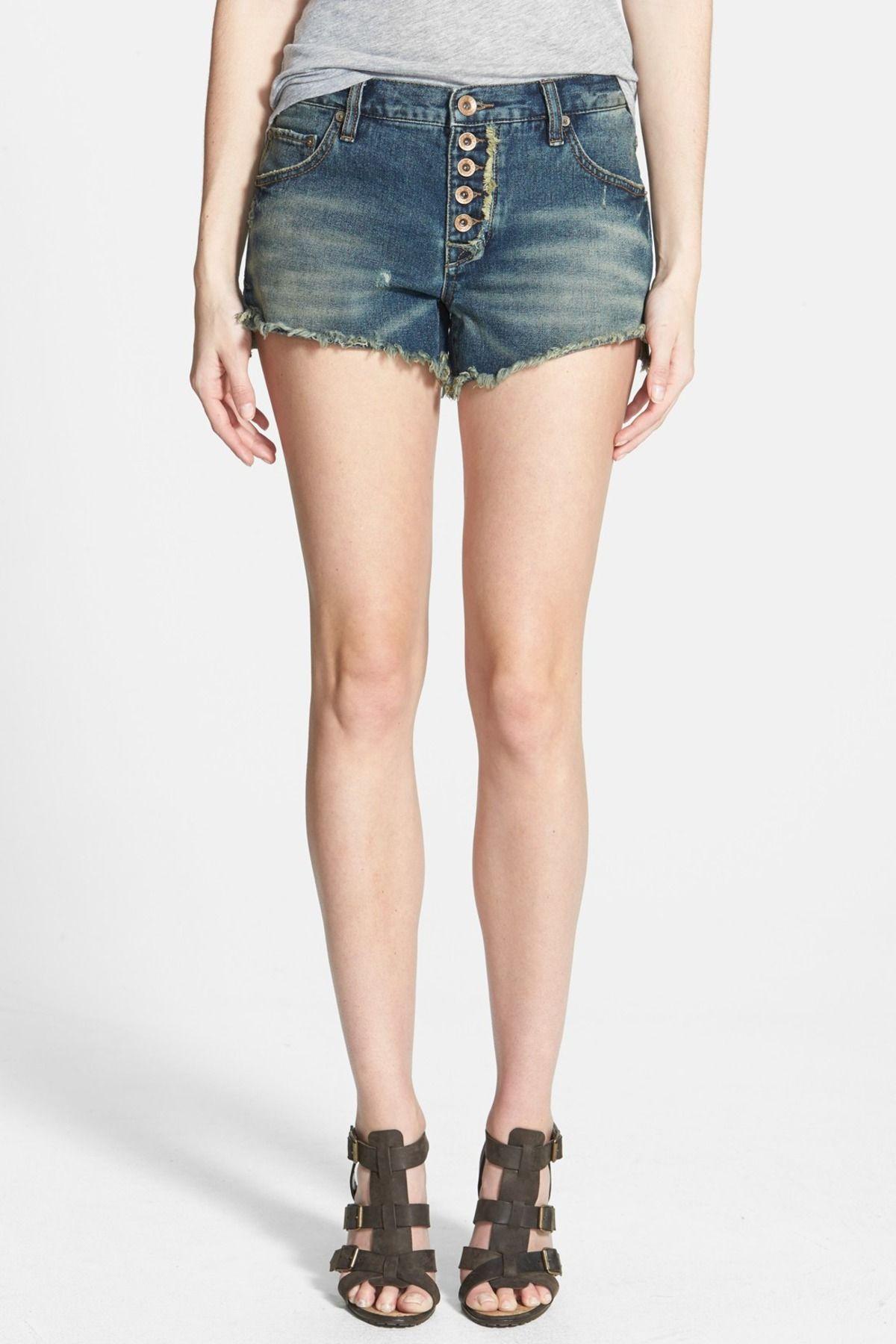 'Runaway' Cutoff Denim Shorts