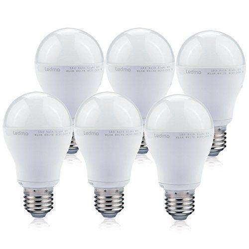 Ledmo Led Light Bulbs 60 Watt Replacement 7w E26 Led Bulbs Daylight White 6000k Pack Of 6 Led Bulb Led Light Bulbs Bulb