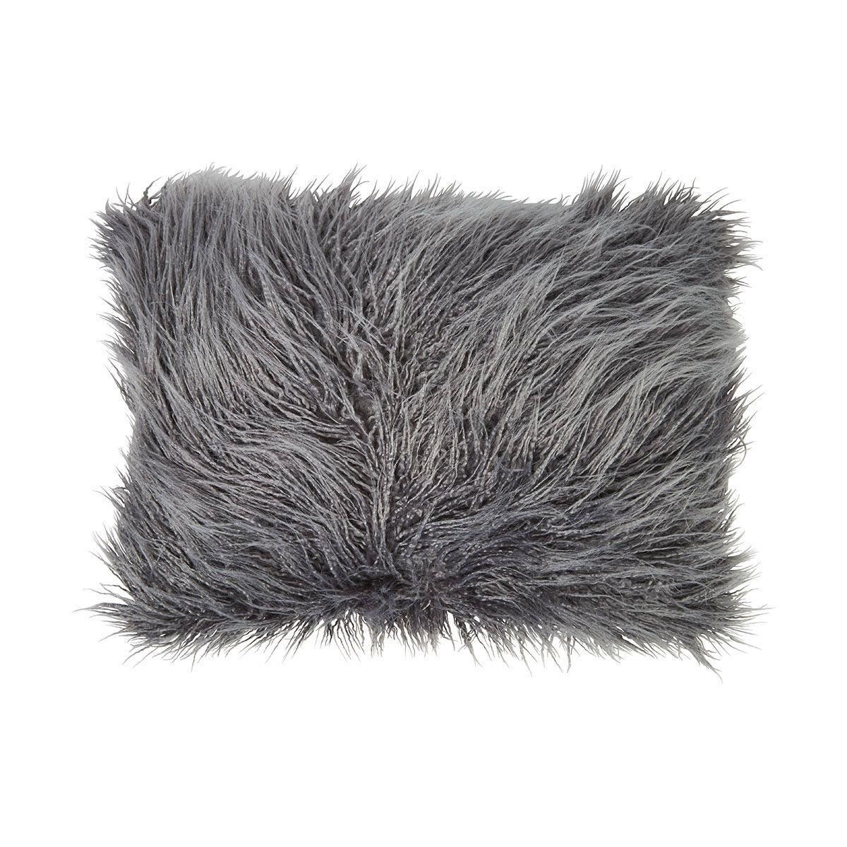 Zsa Zsa Faux Fur Cushion Grey Kmart Fur Cushion Cushions Faux Fur Pillow