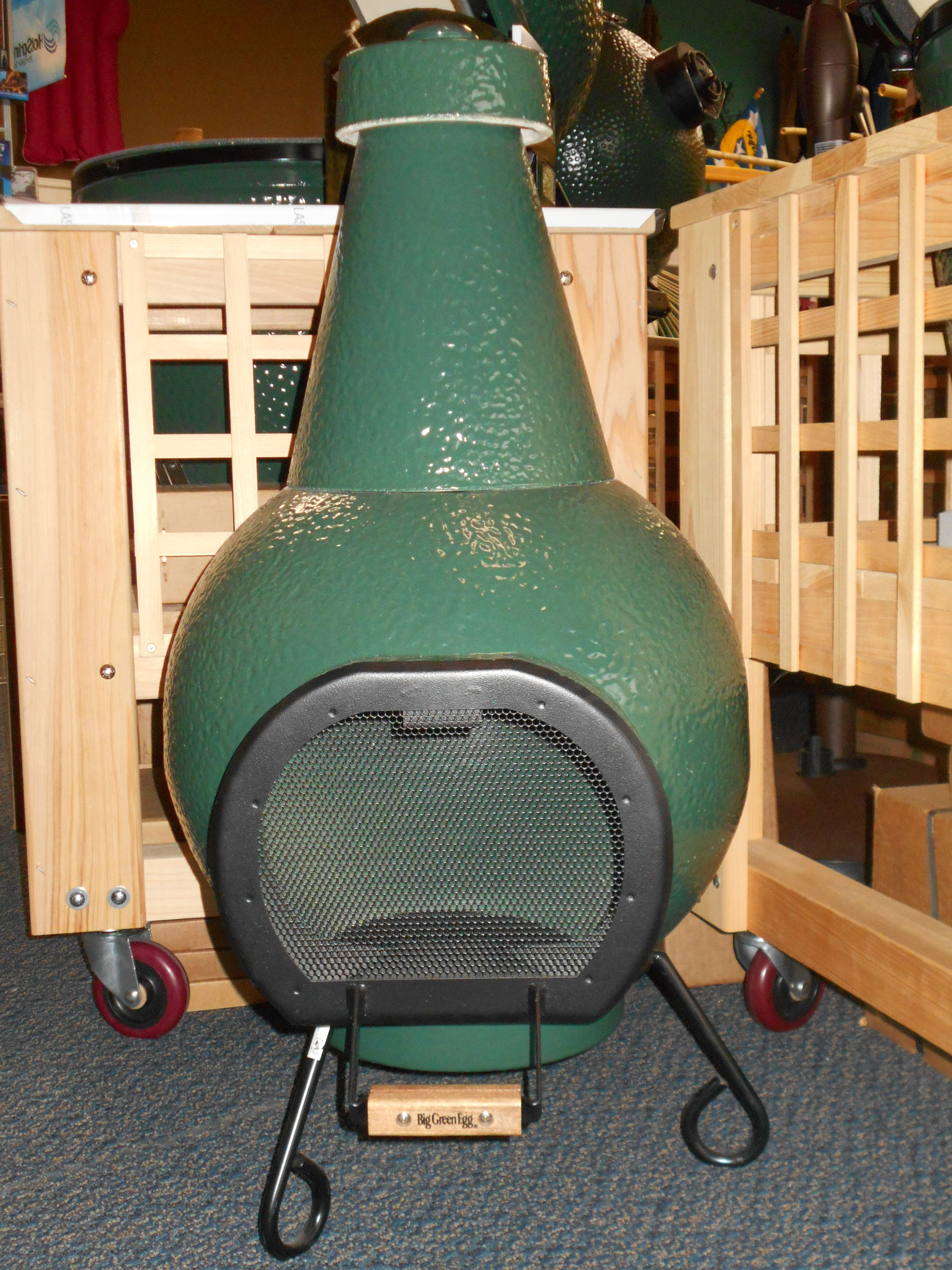 Big Green Egg Chiminea