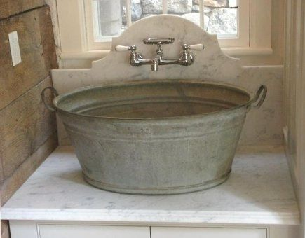 I Absolutely Love This Washtub Made Into A Vessel Sink Fab Laundry Room Idea Laundry Room Sink Wash Tub Sink Wash Tubs