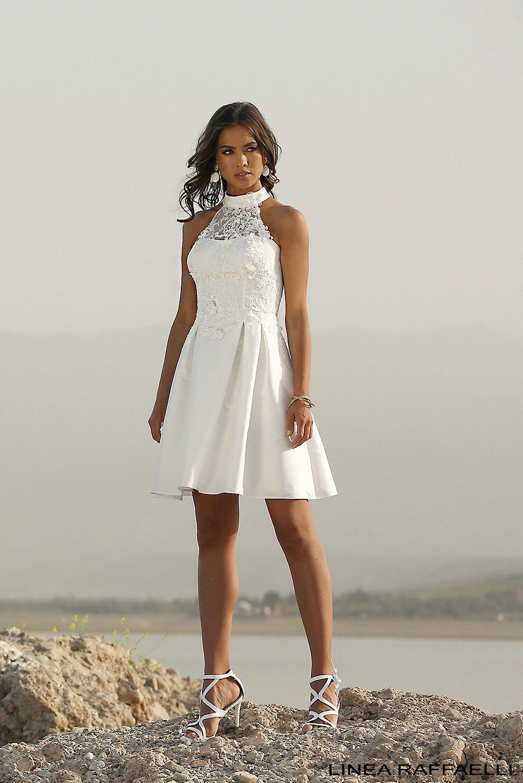 Linea raffaelli bridal b set short edding dress with a high