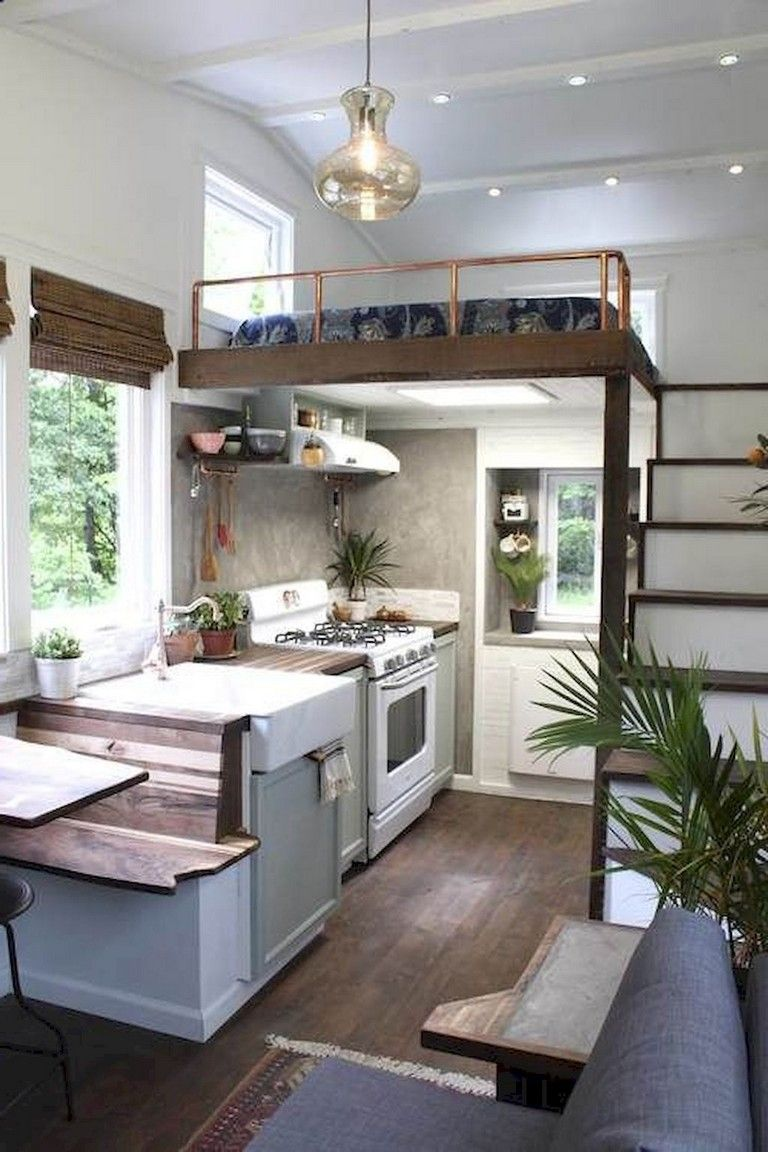 51+ Awesome Tiny House Kitchen Decor Storage Ideas #casaspequeñas