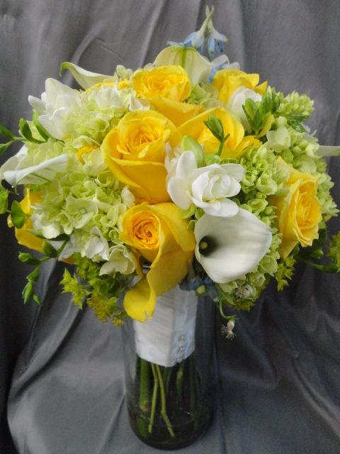 Yellow Roses, Hydrangeas, calla lilies and more