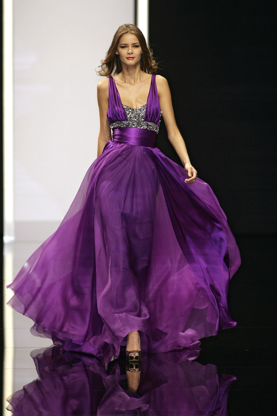 Paris Purple Evening Dresses